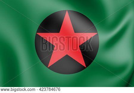 3d Flag Of Ipixuna (amazonas), Brazil. 3d Illustration.