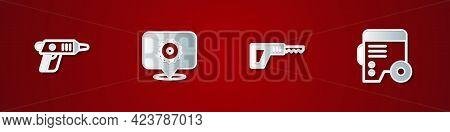 Set Electric Cordless Screwdriver, Circular Saw Blade, Reciprocating And Power Electric Generator Ic