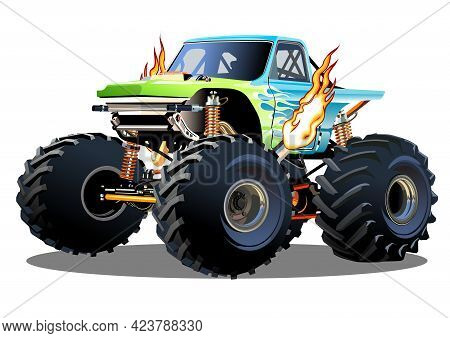 Cartoon Monster Truck. Available Eps-10 Separated By Groups And Layers With Transparency Effects For
