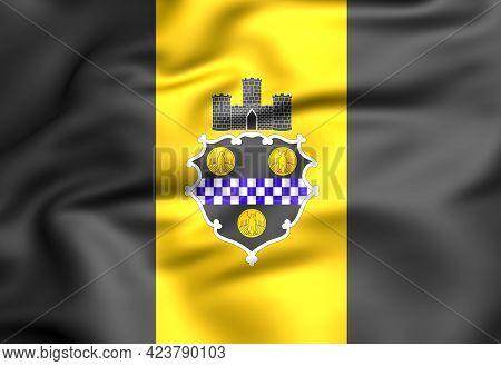 3d Flag Of Pittsburgh (pennsylvania State), Usa. 3d Illustration.