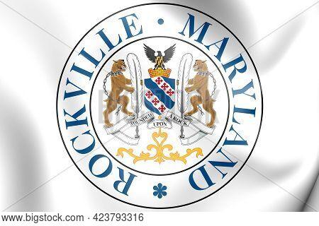 3d Seal Of Rockville (maryland), Usa. 3d Illustration.