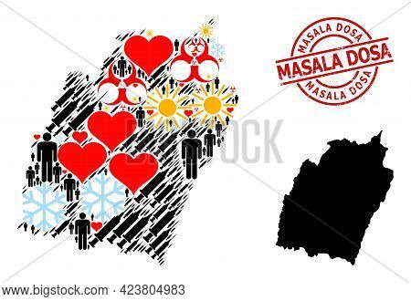 Scratched Masala Dosa Seal, And Frost Demographics Infection Treatment Collage Map Of Manipur State.