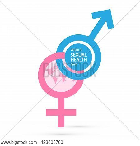 Ion For World Sexual Health Day For Men And Women, Vector Art Illustration.