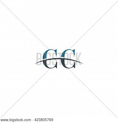 Initial Letter Cc, Overlapping Movement Swoosh Horizon Logo Company Design Inspiration In Blue And G