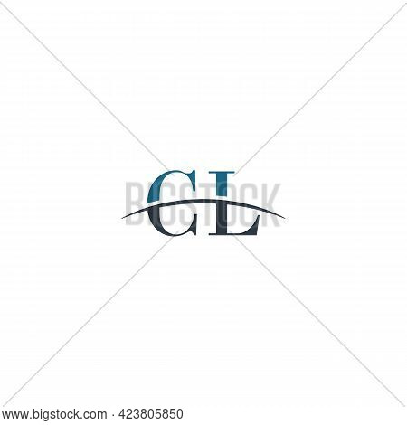 Initial Letter Cl, Overlapping Movement Swoosh Horizon Logo Company Design Inspiration In Blue And G