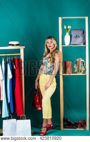 Looking Good. Shopping In Female Boutique. Fashion And Beauty. Be In Style. Buying Clothes