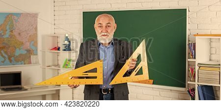 Solve Some Problems. Back To School. Math Science Concept With School Lesson Items. Mathematics At C