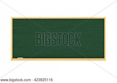 School blackboard on white background. Isolated 3D illustration