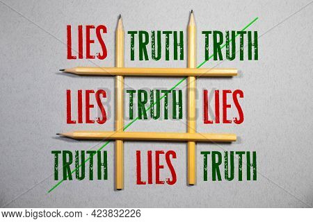Crossing Out Lies And Writing Truth On A Blackboard