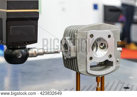 Automatic Coordinate Measurement Machine (cmm) During Inspection Automotive Or Motorcycle Industrial
