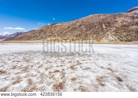 Badwater Basin is a lowest place in N orth America with 86m under a sea level. Califronia, USA.