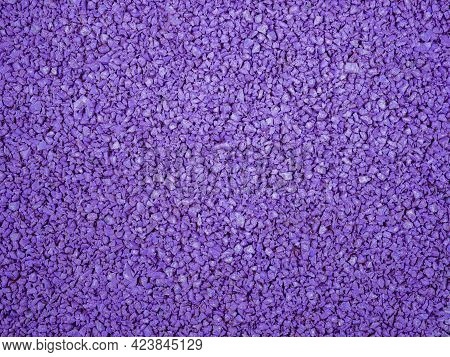 Flexible Lilac Tile For Playground. Tiles Made From A Mixture Of Rubber Crumb.