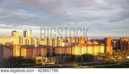 Residential District In Severo-primorskaya Area Of St. Petersburg, Primorsky District, Russia. Twili