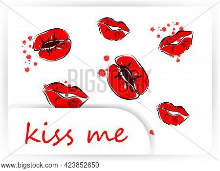 Postcard For The World Kissing Day. July 6. The Inscription Is Written