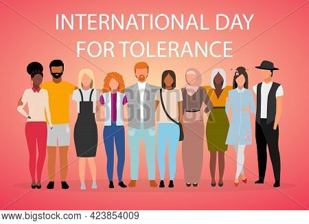 International Day For Tolerance Poster Vector Template. Global Collaboration And Unity. Brochure, Co