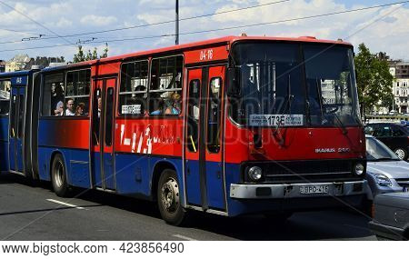 Budapest - Hungary - July 12, 2012: Public Transport In Budapest. Hungarian Public City Bus. Hungary