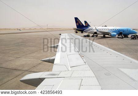 Cairo - Egypt - May 12, 2008: Egyptair Airplane At Cairo International Airport. Egypt