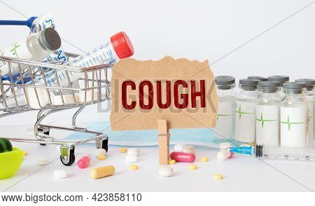 Conceptual Hand Writing Showing Dry Cough. Business Photo Text Cough That Are Not Accompanied By Phl