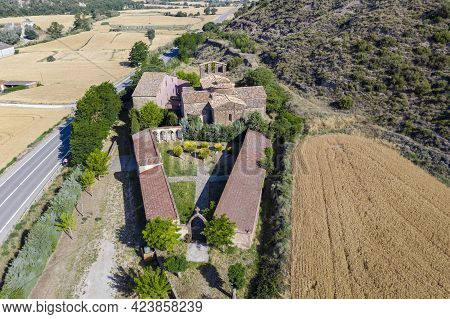 Church Of Santa Maria Of The Priorat In Castellfollit De Riubregos, Anoia Spain. Declared Cultural H