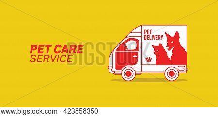 Pets Template Vector, Pet Services, Pet Care Center, Accessories And Products, Animals Pet Shop, Pet