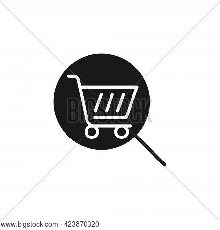 Shopping Cart with Search icon. Shopping Cart icon. Shopping icon. Shopping Cart with Search icon vector. Shopping cart icon set. Online Shop icon. Shopping Cart icon. Shopping Cart with Search design for website, icon, logo, sign, symbol, app