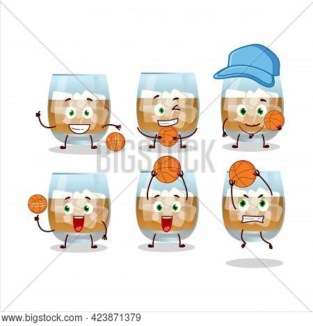 Talented Rum Drink Cartoon Character As A Basketball Athlete