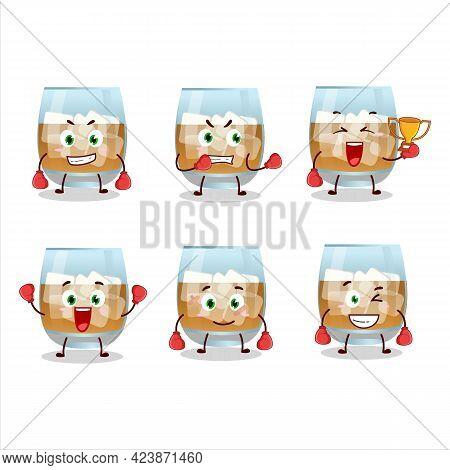 A Sporty Rum Drink Boxing Athlete Cartoon Mascot Design