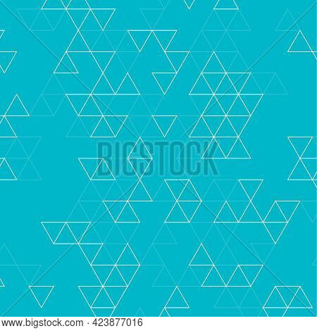 Abstract Background With Intersecting Geometric Triangular Shapes. Vector Pattern Of Triangles.