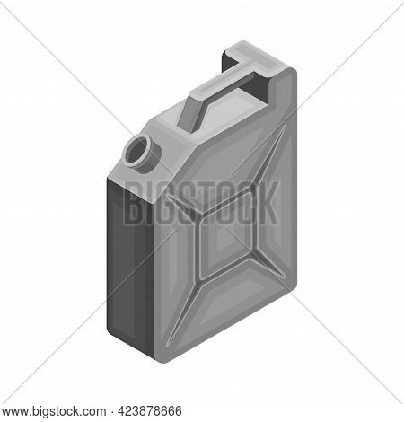 Canister With Oil Or Petroleum Isometric Vector Illustration