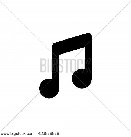 Music Notes, Line Web Or Mobile Interface Vector Icon
