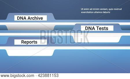File Register Folders With Genetic Dna Archive Tests And Reports Clinic Medical Treatment Research A