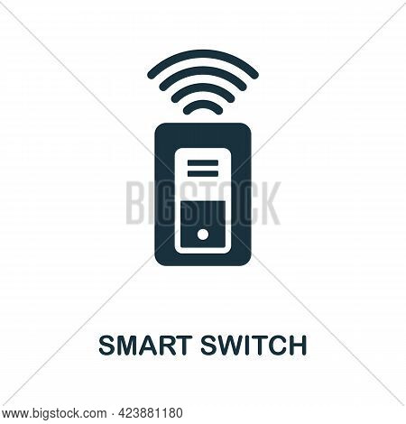 Smart Switch Icon. Simple Creative Element. Filled Monochrome Smart Switch Icon For Templates, Infog