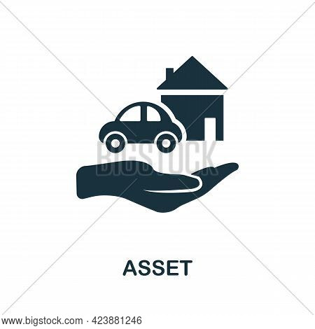 Asset Icon. Simple Creative Element. Filled Monochrome Asset Icon For Templates, Infographics And Ba