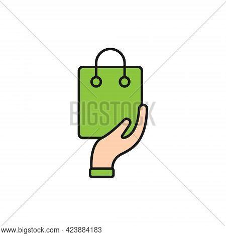 Shopping Bag with Hand icon. Shopping Bag icon. Shopping icon. Shopping Bag vector icon. Shopping Bag icon vector. Online Shopping icon. Shopping Bag icon logo set. Shopping Bag with Hand vector icon design for web, logo, sign, symbol, app UI