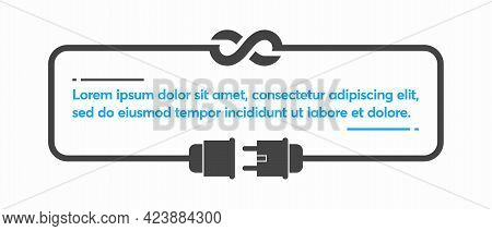 Infinity Electricity With Electric Plug Vector Illustration Background
