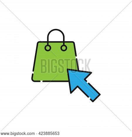 Shopping Bag with Arrow icon. Shopping Bag icon. Shopping icon. Shopping Bag vector icon. Shopping Bag icon vector. Online Shopping icon. Shopping Bag icon logo set. Shopping Bag with Arrow vector icon design for web, logo, sign, symbol, app UI