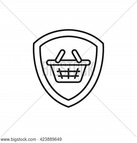 Secure Shopping icon. Secure Shopping icon Vector. Secure Shopping vector. Shopping icon. Secure Shopping Security with Shield icon design concept for e-commerce, online store and marketplace website, mobile, logo, symbol, button, sign, app UI