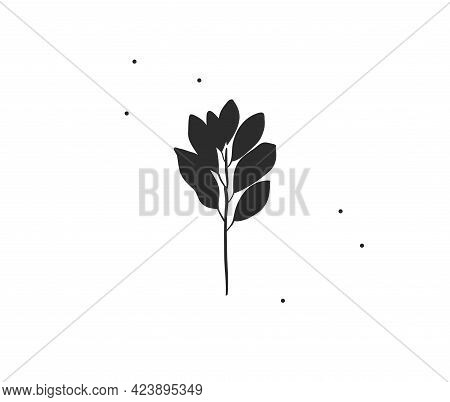 Hand Drawn Vector Abstract Stock Flat Graphic Illustration With Minimal Logo Element, Bohemian Line