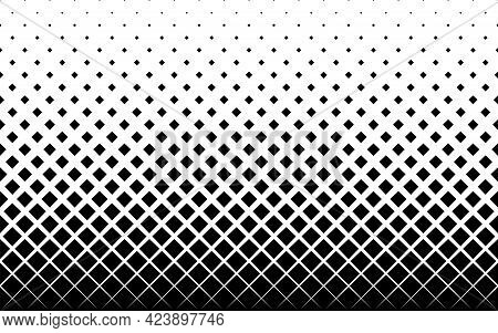 Geometric Pattern Based On Squares On A White Background.seamless In One Direction.short Fade Out. 2