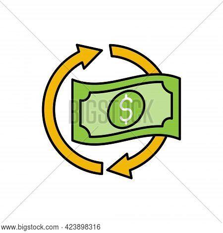 Cash Back. Money Cash Back icon. Cash Back icon. Cash Back vector. Cash Back icon vector. Cash Back icon logo template. Cashback, return money, refund and rebate icon. Cash Back vector icon flat design for web icon, logo, sign, symbol, app UI