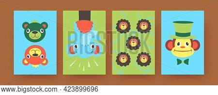 Set Of Contemporary Art Posters With Cute Hand Sock Toys. Vector Illustration. .colorful Hand Sock T