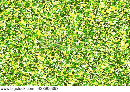 Abstract Background With Green Colorful Camouflage Pattern