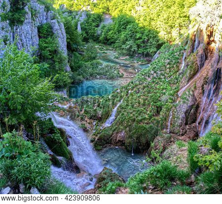 Plitvice Lake With Waterfall In Hdr Croatia Europe National Park