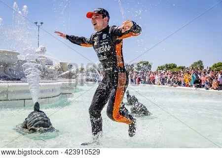 June 13, 2021 - Detroit, Michigan, USA: PATO OWARD (5) of Monterey, Mexico wins the Chevrolet Detroit Grand Prix at Belle Isle in Detroit, Michigan.