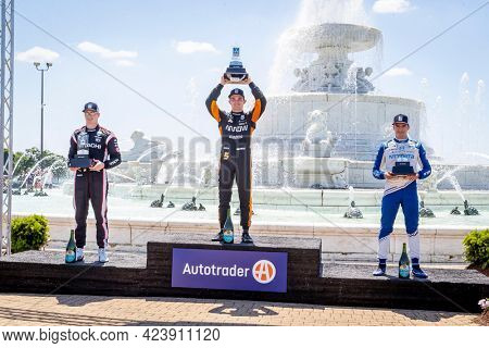 June 13, 2021 - Detroit, Michigan, USA: PATO OWARD (5) of Monterey, Mexico wins the Chevrolet Detroit Grand Prix at the Belle Isle in Detroit, Michigan.