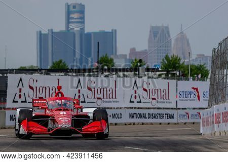 June 12, 2021 - Detroit, Michigan, USA: MARCUS ERICSSON (8) of Kumla, Sweden qualifies for the Chevrolet Detroit Grand Prix at the Belle Isle in Detroit, Michigan.