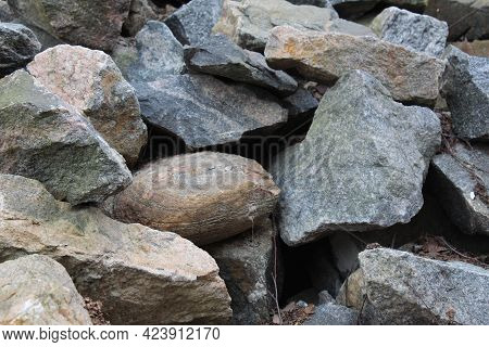 Background Natural Stones Close-up. Construction, Repair, Construction Background