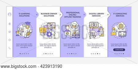 Social Unit Development Projects Onboarding Vector Template. Responsive Mobile Website With Icons. W