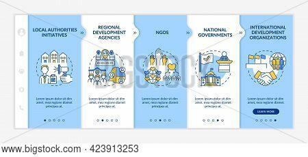 Social Unit Development Programs Levels Onboarding Vector Template. Responsive Mobile Website With I
