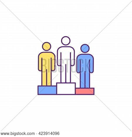 White Supremacy Rgb Color Icon. Racial Inequality. White Race Domination Over Other Ethnic Groups. I